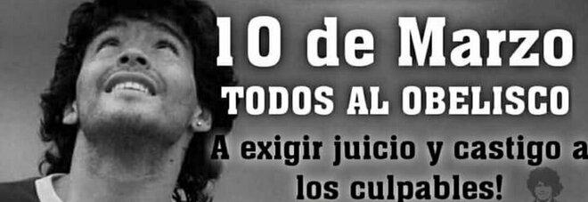 Maradona, manifestazione a Buenos Aires con le figlie: «Diego non è morto, lo hanno ucciso»