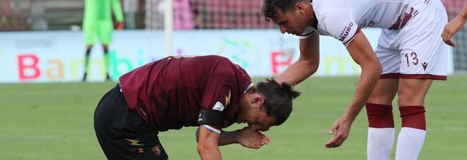 Salernitana, brutte notizie: si fermano Mantovani e Djuric