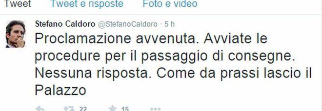 Regione Campania, il tweet di Caldoro: «Proclamazione avvenuta, lascio il Palazzo»
