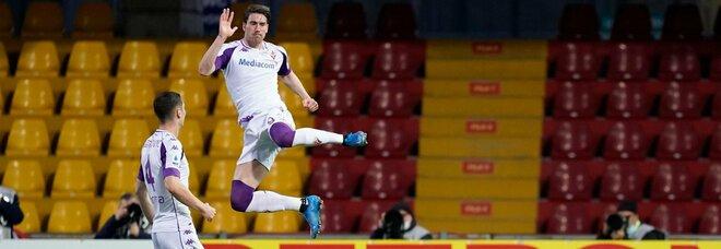 Benevento-Fiorentina 1-4: Vlahovic cala il tris, Inzaghi nei guai