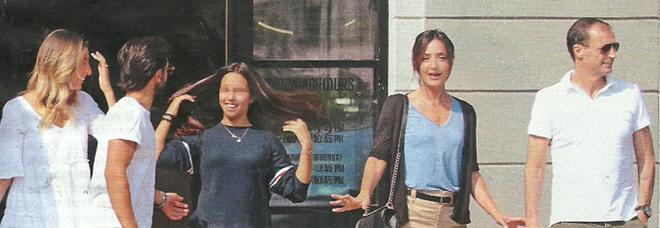 Ambra Angiolini e Massimilano Allegri con le figlie Jolanda e Valentina