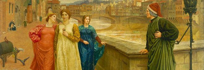 Dante e Beatrice, di Henry Holiday (1883)