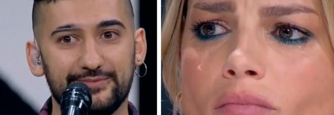 X Factor, Roccuzzo il cameriere canta (contro la famiglia) un pezzo di Elisa. E fa piangere Emma