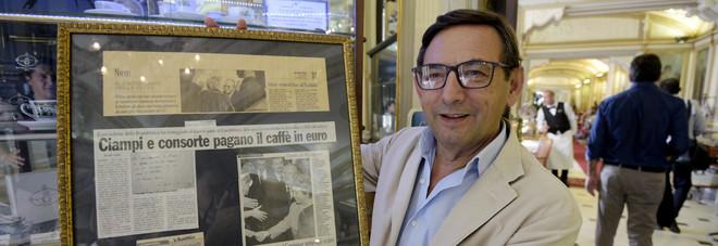 Ciampi primo caff pagato in euro al gambrinus di napoli for Il mattino di napoli cronaca