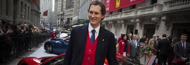 John Elkann il giorno della quotazione della Ferrari a Wall Street