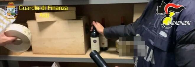 Oltre 54mila bottiglie di vini pregiati vendute per un milione di euro, ma erano contraffate