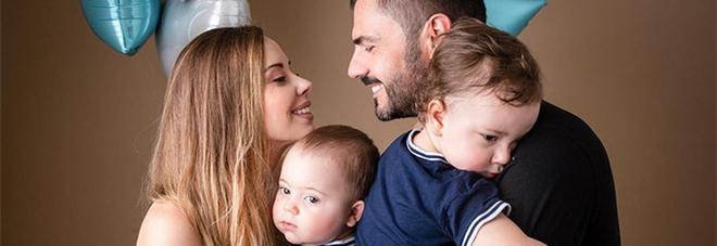 Gianni Fiorellino con la moglie e i due figli
