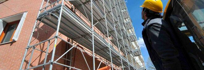 Il superbonus spinge l'edilizia: tra luglio e settembre +5mila imprese