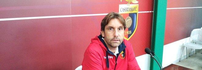 L'allenatore della Casertana Federico Guidi