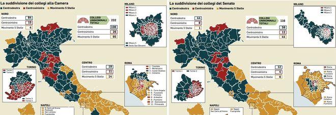 Elezioni politiche, la mappa della nuova Italia post voto