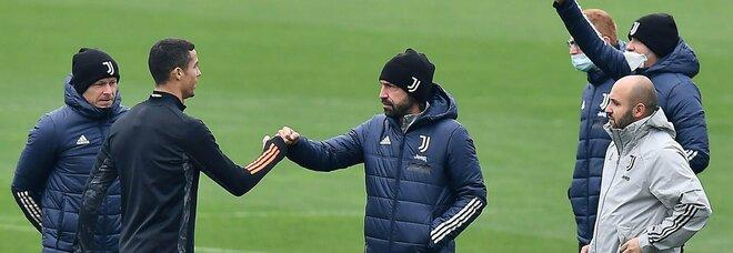 Juve, si ferma di nuovo Chiellini. Pirlo: «Gioca Morata, nel derby con Dybala»
