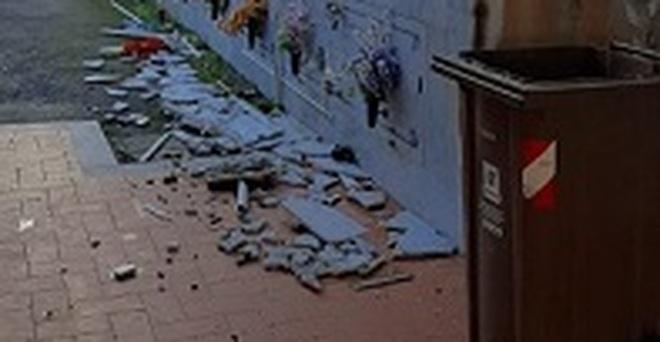 Allerta meteo, nel Napoletano ingenti danni al cimitero di Marano