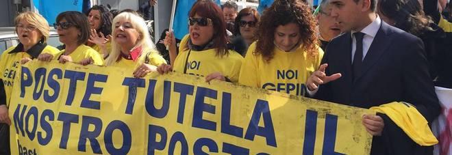 Recente manifestazione lavoratori della Gepin Contact