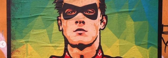 Zaniolo si trasforma in supereroe: spunta il murale tra i vicoli di Trastevere a Roma