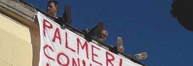 La protesta sui tetti del Cardarelli