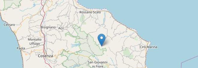 Terremoto in provincia di Cosenza: scossa magnitudo 3.5