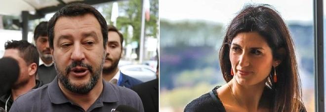 Salvini-Raggi, nuova lite. «Roma piena di monnezza». «Polemiche elettorali»