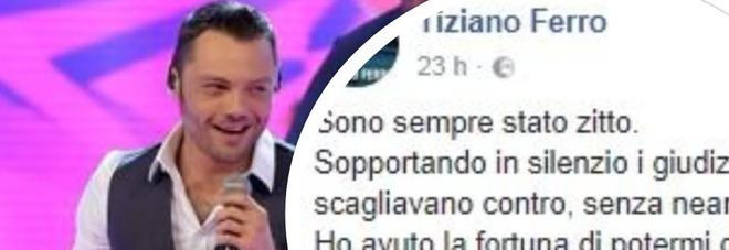 Tiziano ferro assolto, lo sfogo su Facebook: