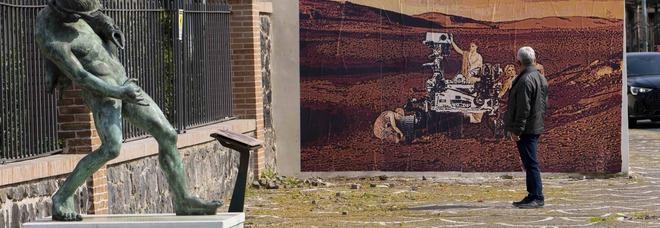 Red Zone, la street art di Petrucci tra Pompei e Marte