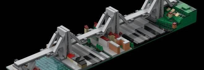 Ponte Morandi in mattoncini Lego: l'idea macabra scatena la bufera