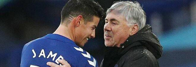 James Rodriguez si offre al Napoli: senza Ancelotti lascerà l'Everton