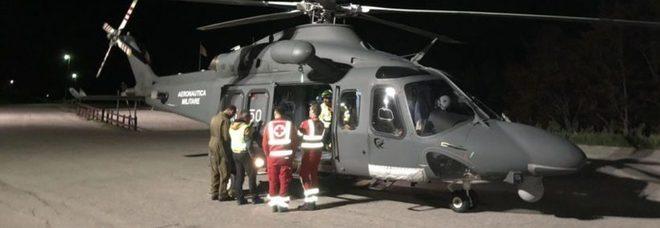 l'elicottero dell'Aeronautica Militare