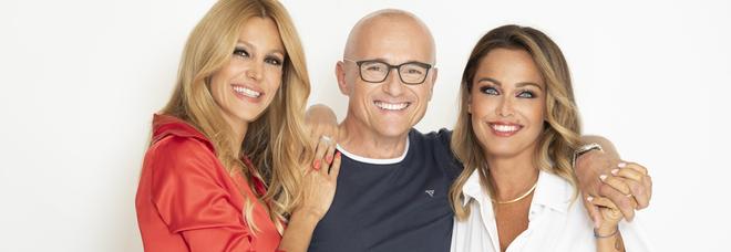 Adriana Volpe, Alfonso Signorini e Sonia Bruganelli (Per gentile concessione dell ufficio stampa Endemol Shine Italy)