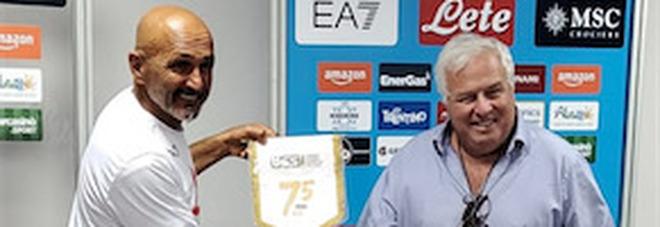 Il presidente dei giornalisti sportivi incontra Spalletti a Castel Volturno