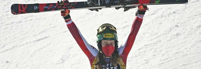 Liensberger regina di Cortina: è oro anche slalom, la Shiffrin abdica