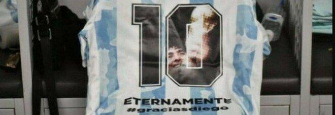 L'Argentina in campo contro il Cile: Fifa vieta immagine Diego su maglie