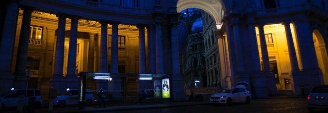 Galleria Umberto di Napoli, ripristinata l'illuminazione nel porticato