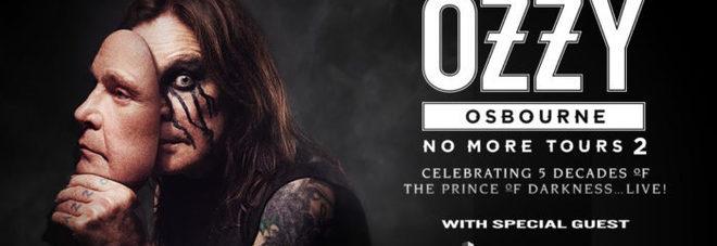 Ozzy Osbourne torna in Italia: il 1° marzo canterà all'Unipol Arena di Bologna