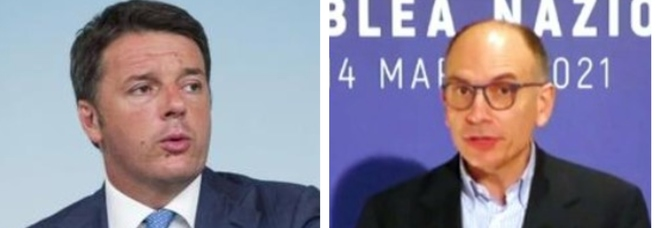 Letta e Renzi faccia a faccia: sostegno a Draghi ma divisione su M5S