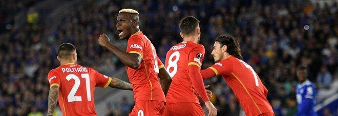 Il Napoli e Osimhen da applausi: 2-2 in rimonta contro il Leicester