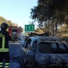 Famiglia napoletana, pellegrinaggio da incubo: l'auto prende fuoco
