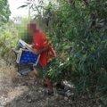 Ambulante abbandona rifiuti:  acciuffato e multato a Camerota