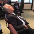 Lazio, Lotito dorme all'assemblea di Lega: la foto fa il giro di Twitter
