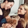 Michelle Hunziker, Aurora Ramazzotti e il cane Lilly (Instagram)