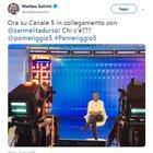 Salvini nega il rimpasto dalla D'Urso: «Nuovo contratto e team compatto»