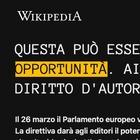 Wikipedia è off, oscurata la pagina