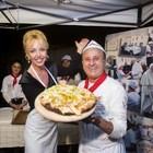 Ecco la pizza Camilla con i Borbone tra solidarietà e showcooking