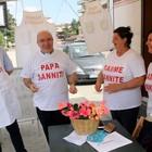 «No all'impianto rifiuti», il vescovo  indossa la maglia «Papà sanniti»