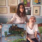 Franco Leo, l'artista disabile che disegna con la fronte