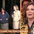 Dritto e Rovescio, madre rom insulta Daniela Santanchè: «Fatti i c... tuoi, p...»
