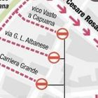 Cantiere di piazza Garibaldi,  strade off-limits e autobus deviati