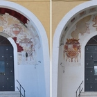Nuova luce a S.Maria del Parto Restaurati gli affreschi del portale