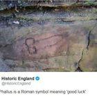 Simbolo fallico del 200 dC ritrovato su Vallo Adriano