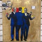 Tvboy colpisce ancora: il nuovo murale celebra il patto giallorosso tra Conte, Di Maio e Zingaretti