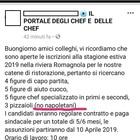 Riviera romagnola, ristorante assume tre pizzaioli: «Ma non napoletani»