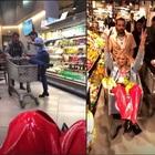 Fedez, festa a sorpresa in un supermercato. Bufera sul web: «Quanto cibo sprecato»